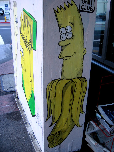 Bart now has become a banana.