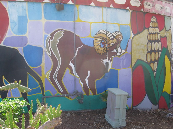 A ram and corn are among the many images.