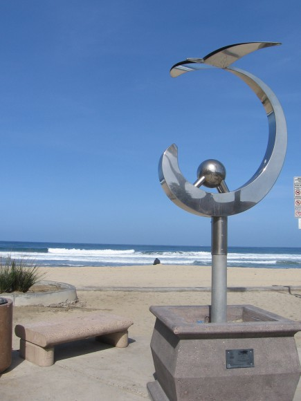 Sea and Sky sculpture by Ken Smith.