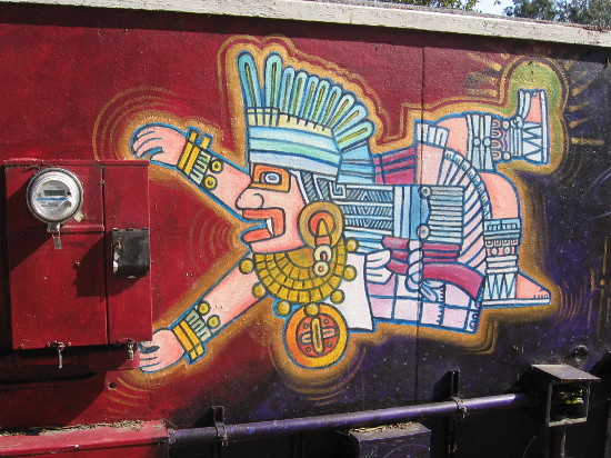 This appears to be an Aztec warrior.