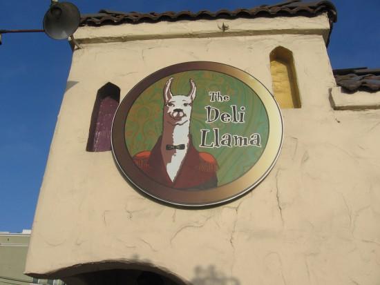 The Deli Llama is wearing his elegant best.