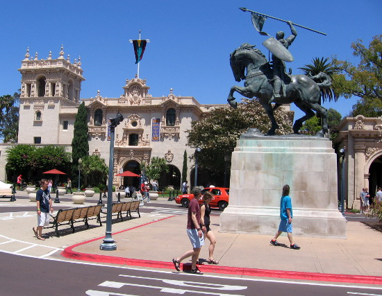 El Cid, with Balboa Park's House of Hospitality in the background.