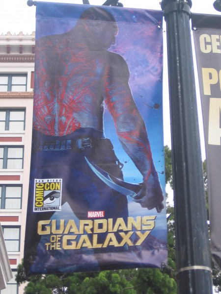 Drax on a cool San Diego Comic-Con sign.