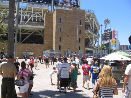 Padres fans converge on Petco Park for another baseball game.