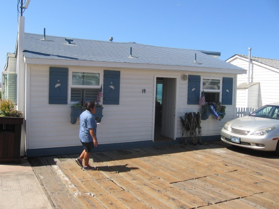 One of the small, quaint cottages actually on the pier!