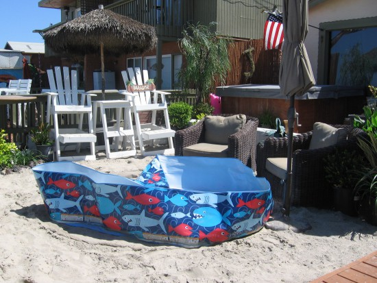 A small backyard is paradise on the beach!