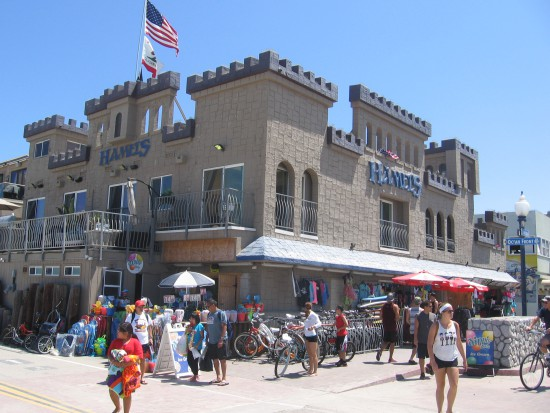 I reached the Hamel's castle surf shop in Mission Beach!