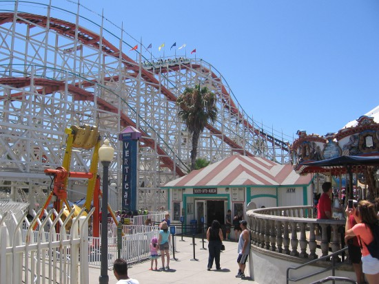 Kid-friendly Belmont Park has thrilling rides and fun stuff.