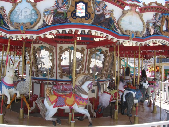 This small merry-go-round is a treat for kids of every age.