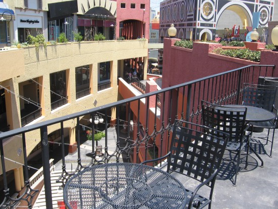 Lots of great vistas near Horton Plaza's food court.