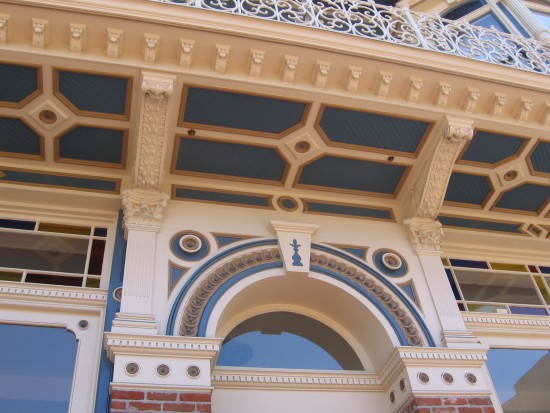 A closer examination of architectural detail.