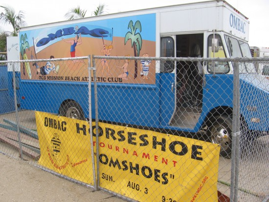 Old Mission Beach Athletic Club truck and banner.