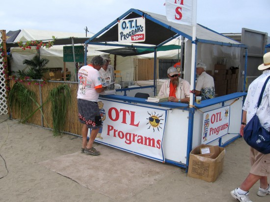Official OTL programs for sale near the entrance.