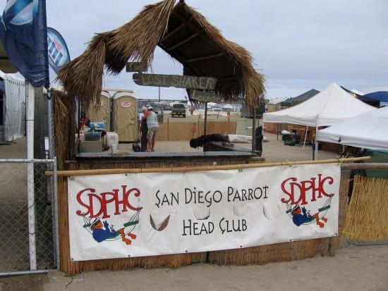 San Diego Parrot Head Club lounge is still empty.