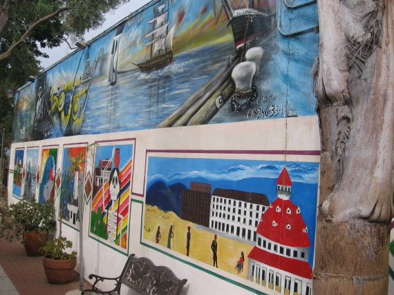 Many murals were painted by Grossmont College students.