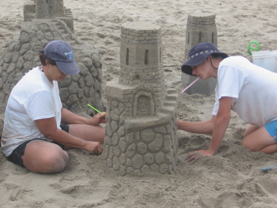 Patience, planning and creativity on a Southern California beach!