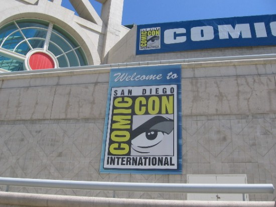 Several Comic-Con banners already on San Diego Convention Center.