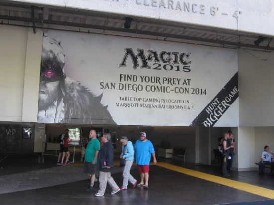Magic 2015 table top gaming poster on Marriott Hotel parking wall.