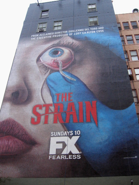 The Strain building mural is finally completed.