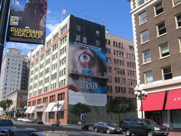 New television show The Strain has mural painted on Gaslamp building.