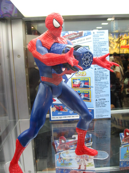 Spiderman figurine just one of hundreds on display.