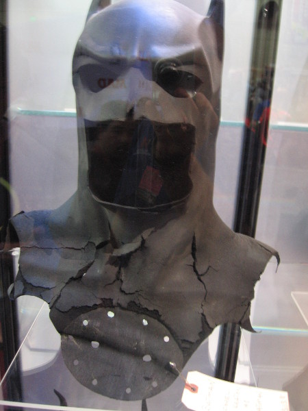 Cowl used by Michael Keaton in first Batman movie.