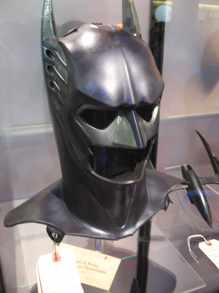 Cowl used by George Clooney in Batman and Robin.