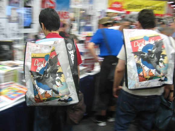 Swag bags were handy for 2014 San Diego Comic-Con Preview Night.