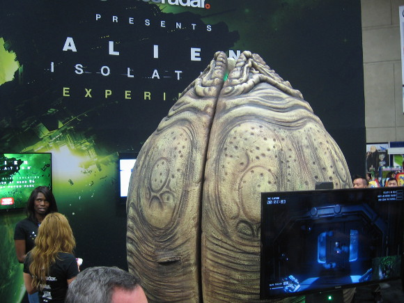 Huge Alien pod was an isolation chamber for video game players.