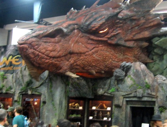 Smaug from The Hobbit was a popular attraction during Preview Night.