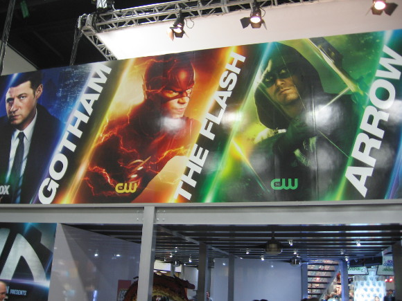 Warner Bros. was promoting their superheroic television lineup.