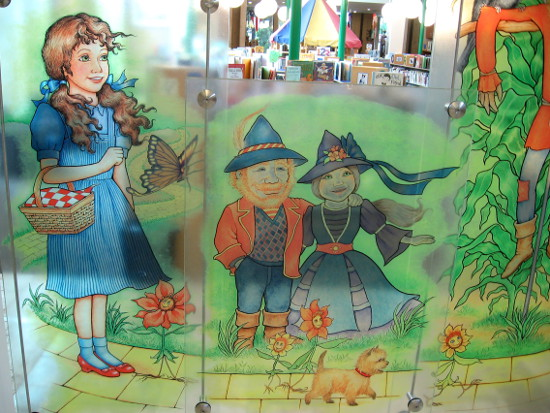 Dorothy, Toto and Munchkins are a permanent feature of the library!