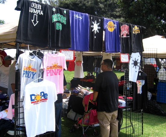 Funny t-shirts celebrate Filipino life at special event in Balboa Park.