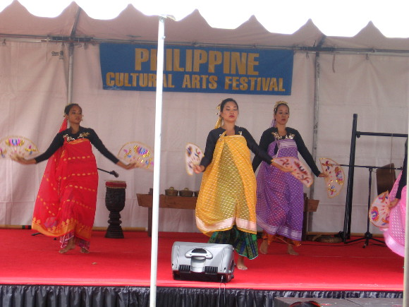 Folk dances from the Philippines were part of the cultural exhibition.