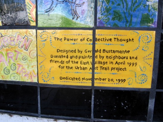 The Power of Collective Thought from the Urban Art Trail project.