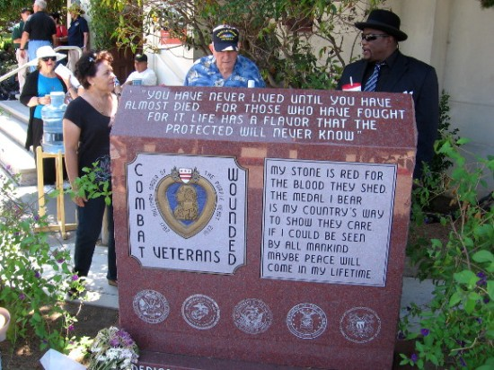 Memorial for combat wounded veterans is one of nearby monuments.