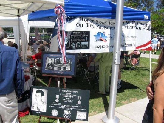 Mt. Soledad Veterans Memorial had a display.