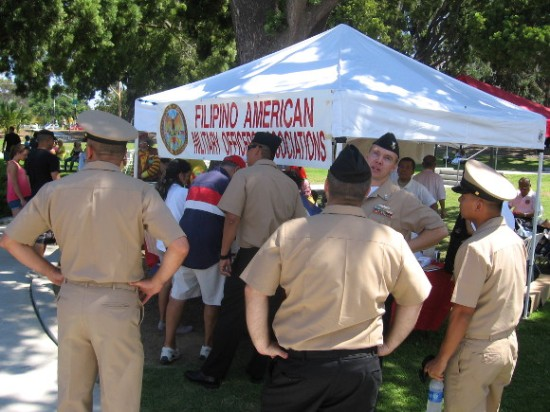 Filipino-American Military Officers Association Tent.