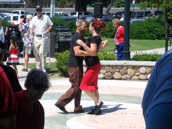 And so are some dancers enjoying the nearby band playing swing music!