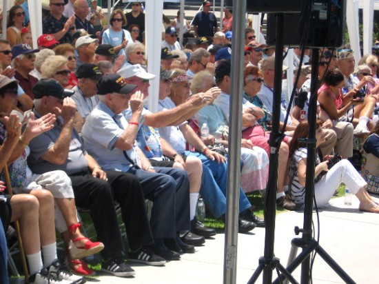 Veterans salute a general who spoke about his pride for those who served.
