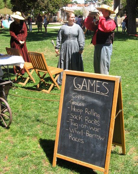 Families enjoyed many activities including games.