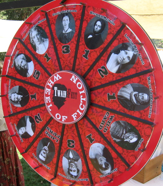 The TwainFest Wheel of Fiction featured many famous writers.