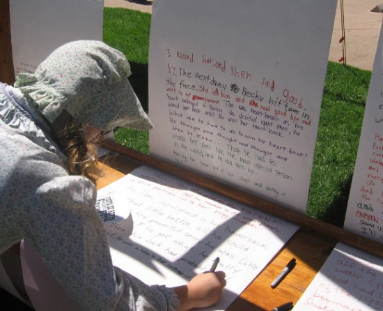 Never-ending stories had visitors adding their imaginative sentences.