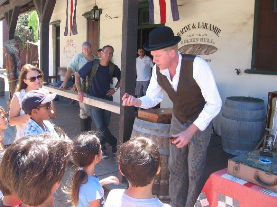Children really enjoyed this guy's amazing flea circus!