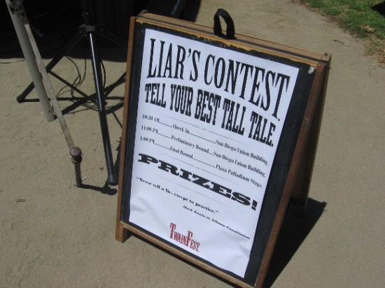 The big Liar's Contest featured lots of tall tales and jaw-dropping whoppers.