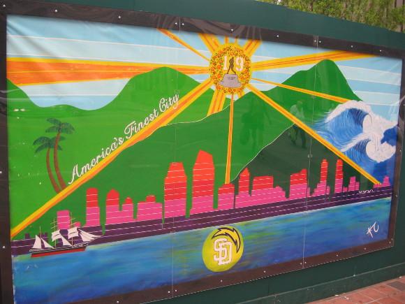Another interpretation of the San Diego skyline.
