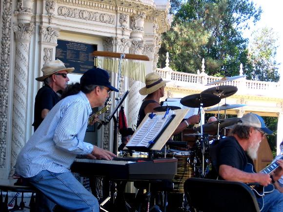 Moonlight Serenade Orchestra practices at Spreckels Organ Pavilion.