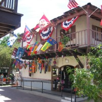 Flying colors and patriotism at Alamo Flags.