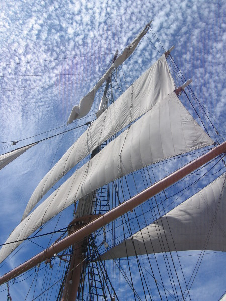 Beautiful sails and clouds.