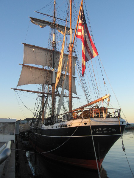 Early morning photo of San Diego's Star of India.
